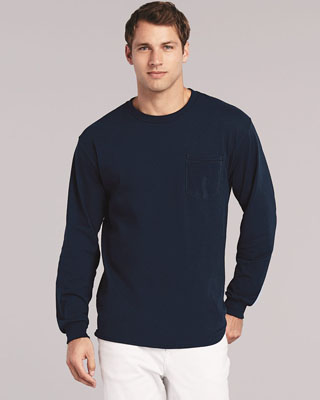 05060 - DS - 05060 - DS - Gildan - Ultra Cotton Long Sleeve T-Shirt with a Pocket