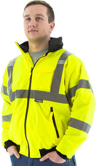 751301 - DS (203-4891) - 751301 - DS - Safety Yellow 3-Season Bomber Jacket, with removable liner (203-4891 RC)