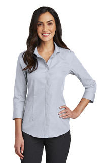 RH690 - DS - RH690 - DS - Red House Ladies 3/4-Sleeve Nailhead Non-Iron Shirt