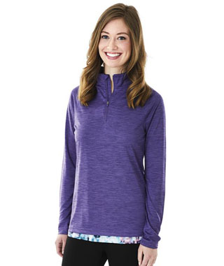 5763 - DS - 5763 - DS - Women's Space Dye Performance Pullover