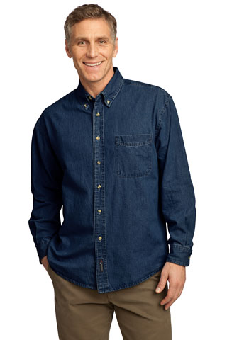 SP10 - DS - SP10 - DS - Port & Company - Long Sleeve Value Denim Shirt