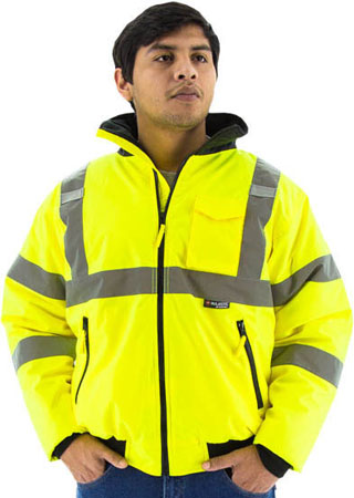 751300 - DS (203-4891 RC) - 751300 - DS - Safety Yellow Bomber Jacket