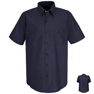 SC40 - DS - SC40 - DS - Short Sleeve Wrinkle-Resistant Cotton Work Shirt